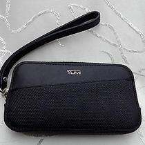 Tumi Prism Leather Wristlet for Iphone Black  Photo