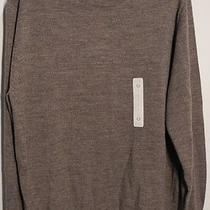 Turnbury Classic Dark Taupe Heather Long Slv Men's Wool Sweater Large New 59.50 Photo