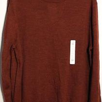 Turnbury Classic Red Brick Heather Long Slv Men's Wool Sweater Large New 59.50 Photo