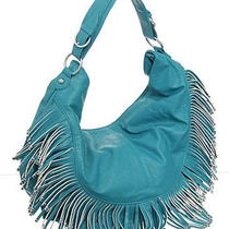Turquoise Extra-Large/big Boho Fringe Crossbody Hobo designerl&s Photo