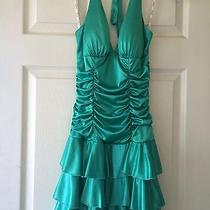 Turquoise Formal Prom Dress Small Photo