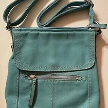 Turquoise Fossil Crossbody Leather Purse Photo