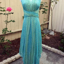 Turquoise Goddess Beaded Dress Size 6 Photo