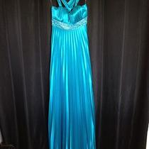 Turquoise W/beading Long Gown Size Small Photo
