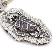 Turtle Fossil Keychain in Pewter Handmade Animal Fossil on 30 Mm Key Ring  Photo