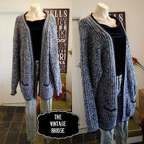 Tvb Vintage Hobo Oversize Chunky Knit / Knitted Cardigan - Slouch Grunge 90s Xl Photo