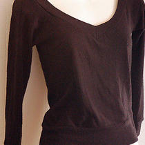 Twenty One by Forever 21 Black v-Neck Sweater Top S Photo