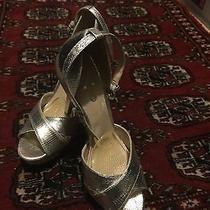 Twice Used Women's Shoe Size 6.5 Silver Brand Name Aldo Photo