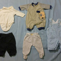 Twin Baby Boy or Girl Clothes Outfit 0-3 Months Carter's Gap Old Navy Overalls  Photo