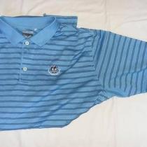 Twin Warriors Golf Club Adidas Blue Striped Shirt Xl X-Large Photo
