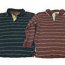 Two Boys Gap Long Sleeve Stripe Polo Tops 6 / 7 Photo