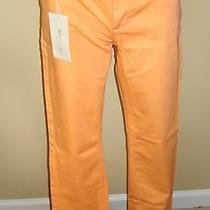 Two by Vince Camuto Bright Orange Colored Cotton Blend Skinny Jeans Size 28 Nwt Photo