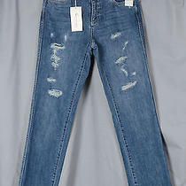 Two by Vince Camuto Ripped Jeans Straight Leg Size 27 Nwt Retail Price 119 Photo