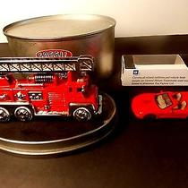 Two Collectables  Fossil the American Classic Firetruck Cloc K  k.f.c. Corvette Photo