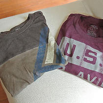 Two Fossil Graphic Tees  T-Shirts Size Large Photo