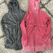 Two Gap Maternity Full Zip Hoodie Jackets Small Photo