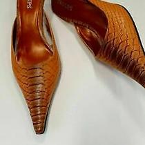 Two Lips Womens Ombre Orange Tangerine Moc Croc Mule Shoes Heels Sz 9 Sexy Fall Photo