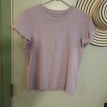 Two Madewell Northside Tee Shirts Size Xs Black and Lavender Bnwt Photo