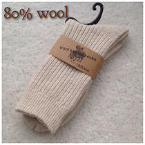 Two Pairs Men's Lambs Wool Socks for Autumn or Winter 40% Off Photo