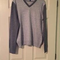 Two Tone Gray Express Sweater Size Large Photo