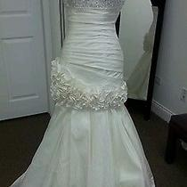 Two Wedding Gowns in One by Private Label Taffeta Beaded Detachable Skirt Photo