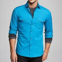 Tx8 Fitted Stretch Cotton Western Shirt L Photo