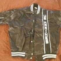 U.s. Marines Jacket Satin 1980's Soffe Size M 38-40 Excellent  Black / White Photo