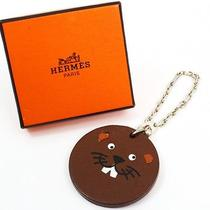 U1404kk Authentic Hermes Key Chain Ring Beaver Charm Sterling Silver 925 Animal Photo