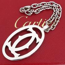 U3145k Authentic Cartier Key Chain Ring Holder Charm 2c Logos Silver Tone Box Photo