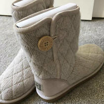 Ug Short Mountain Quilted Boot Cream Color Button Us 6 Photo
