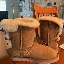 Ugg 1002954 Women Bailey Bow Chestnut Winter Boot Us Size 8 Excellent Condition Photo