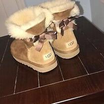 Ugg 1016501 Women Mini Bailey Bow Ii Chestnut Winter Boot Us Size 8 Photo
