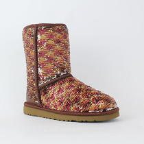 Ugg 190 1002766 Classic Short Sparkles Autumn Sequins Boots Sz 11 Nib  Photo