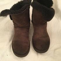 Ugg 5803 Australia Bailey Button Brown Shearling Winter Boot Women Size 7   Photo