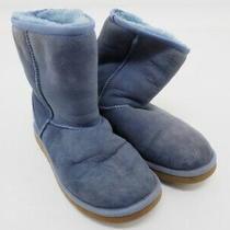 Ugg 5828 Classic Short Ii Women's Boots Size Us 6 Eu 37 Uk 4.5 Cm 23.0 Blue/tan Photo