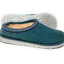 Ugg 5950 - Men's Tasman Suede Slipper - Sheepskin Blue Suede- Size 11 Photo