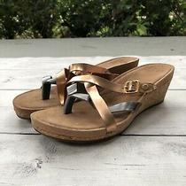 Ugg Adalie 1007232 Metallic Women's Ugg Wedge Flip Flop Sandals Us 7 Photo