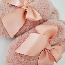 Ugg Addison Suntan Curly Sheepskin Bow Women's Slippers Size Us 9 New Photo