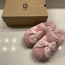 Ugg Addison Velvet Bow Pink Slipper Size 7 Photo