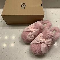 Ugg Addison Velvet Bow Pink Slipper Size 8 Photo