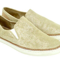 Ugg Adley Slip on Shoes Flats Womens 9.5 Gold Leather Metallic Perf Casual Photo