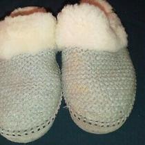 Ugg Aira Knit Grey Shearling Cozy Mocassin Slippers Us 10/ Eu 41 / Uk 8.5 Photo