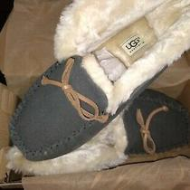 Ugg Alena Women's (Gray)suede Moccasin Bootie Slippers Wm's 9 Photo