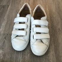 Ugg Alix White Real Leather Hook and Loop Closure Sneakers Size 8 Photo