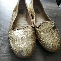 Ugg Alloway Gold Glitter Slip on Ballet Loafer Flats Womens Size 8 Sparkle Uggs Photo
