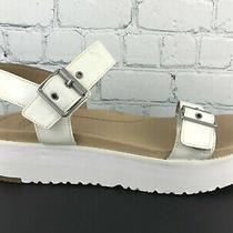 Ugg Angie Womens White Leather Platform Sandal Size 8.5 Photo