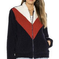 Ugg Annalise Teddy Bear Jacket Red/white/blue 1109594 Womens Sz Xl Msrp 150.00 Photo