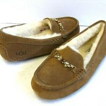 Ugg Ansely Charm Gem Women Slipper Suede Chestnut Us 6 /uk 4 /eu 37 /jp 23 Photo