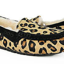 Ugg Ansley Calf Hair Leopard Chestnut Fur Slippers Size 10 New in Box Photo