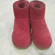 Ugg Arden Bootsquilted Pink With Fur Liningsize 6new W/boxlbdmb Photo